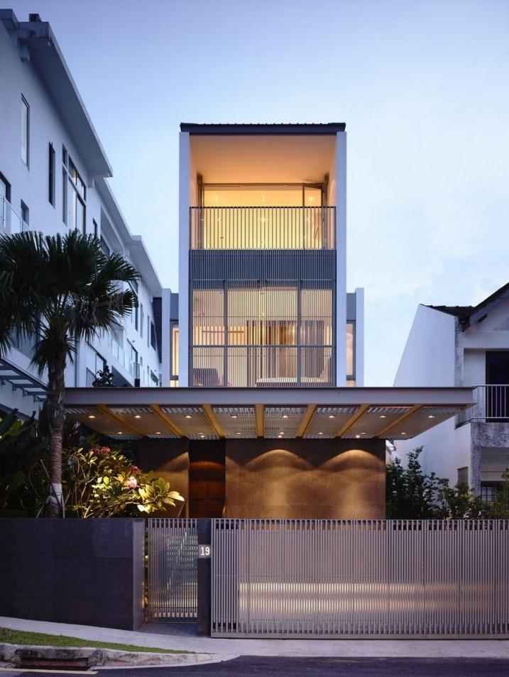 Maison moderne 3 tages for Casa moderna hormigon