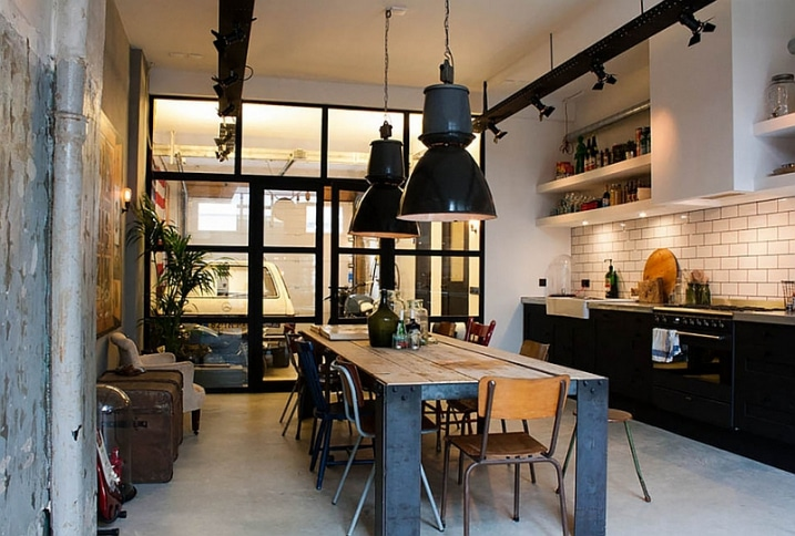 30 exemples de d coration de cuisines au style industriel for Appartement deco bistrot