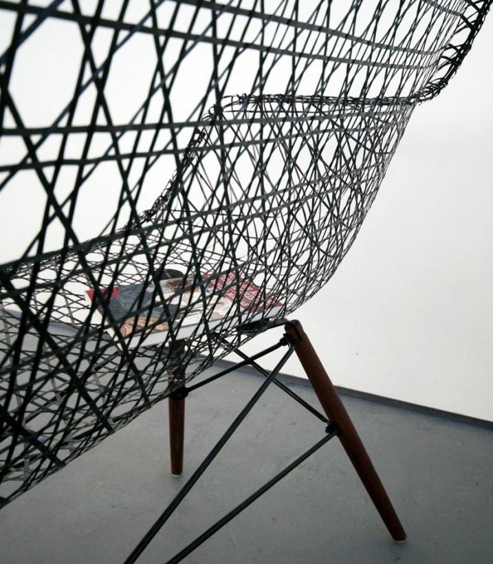 Sofa Design Eames en fibre de carbone