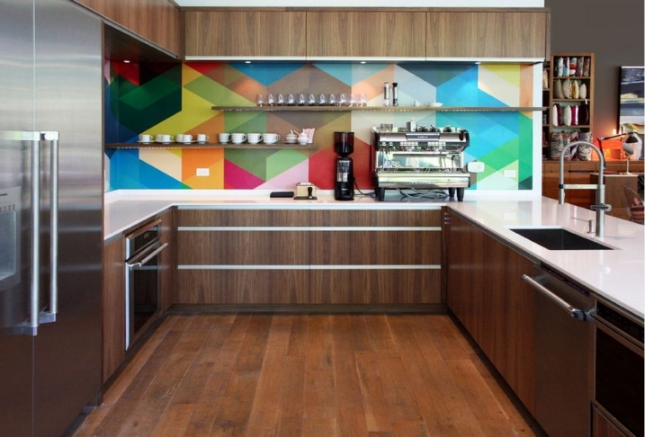 Crédence de cuisine multicolor