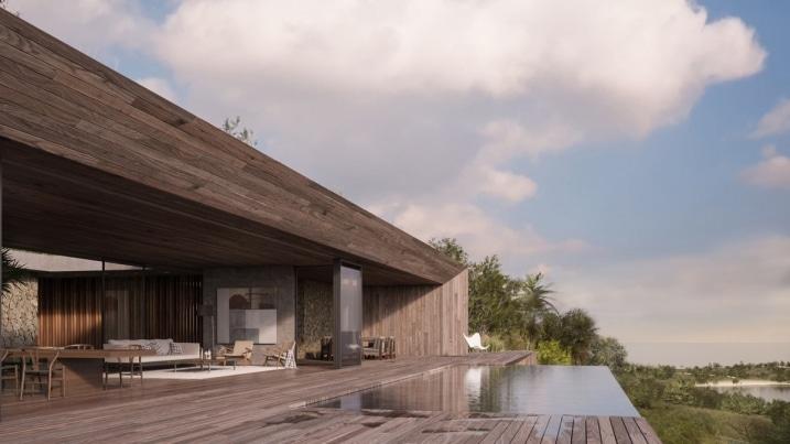 Maison et terrasse en bois