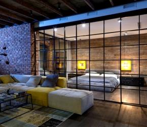 Chambre ouverte sur salon Loft