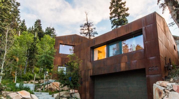 maison contemporaine avec bardage en acier