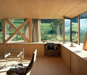 Bureau vitré avec du bois