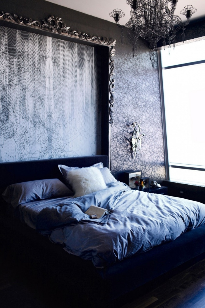 Décoration chambre gothique glam