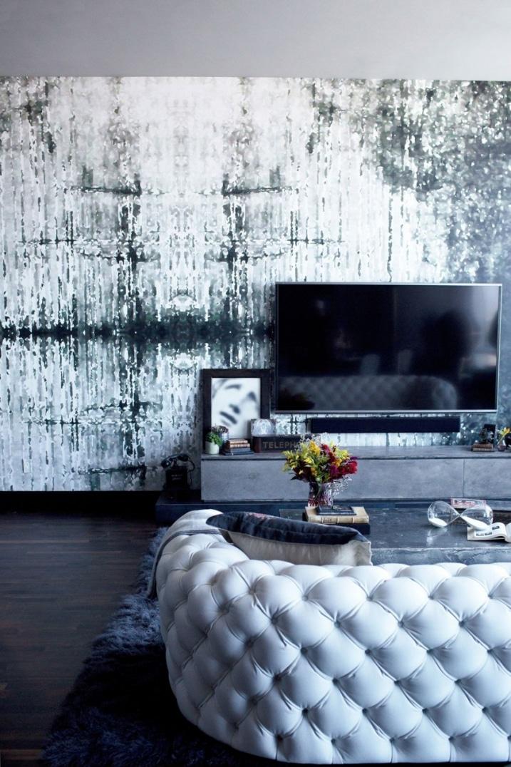 Décoration salon gothique glam