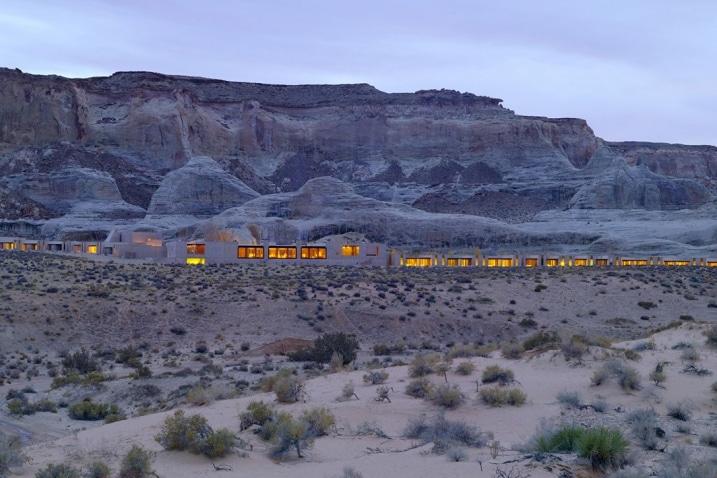 Hôtel Amangiri situé dans le desert de l'Utah