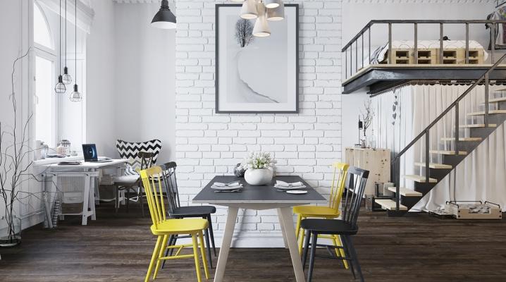 d coration d 39 un loft avec un design scandinave. Black Bedroom Furniture Sets. Home Design Ideas