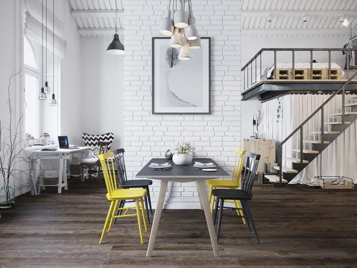 Loft style scandinave