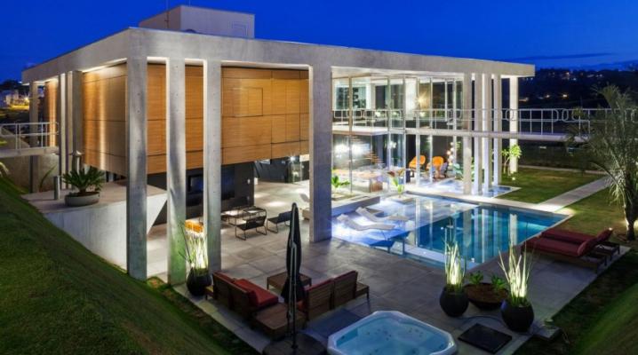 Maison contemporaine de rêve située au Brésil