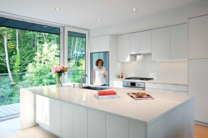 13 exemples de cuisines blanches contemporaines - Cuisines blanches design ...
