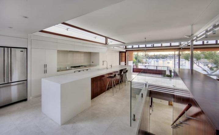 Cuisine blanche maison architecte