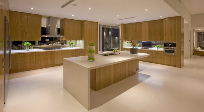 Cuisine design avec facades bois - Cuisine facade bois ...