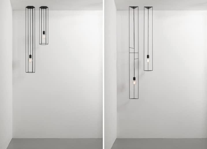 Lampe design géometrique