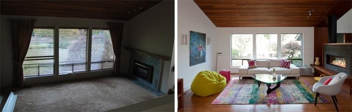 Rénovation chambre avant après