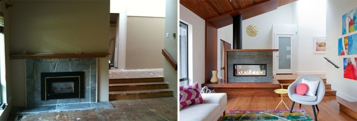 r novation salon avant apr s. Black Bedroom Furniture Sets. Home Design Ideas