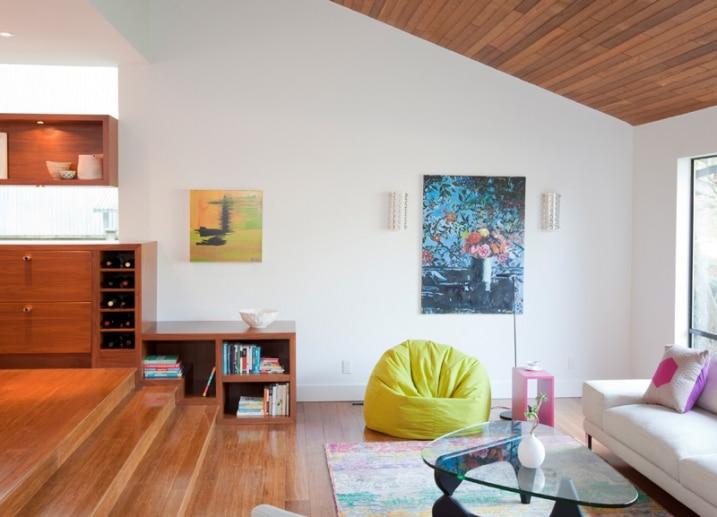 Rénovation salon contemporain