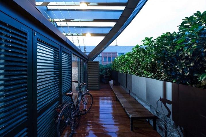 Terrasse en bois loft