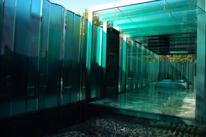 Chambre hôtel en verre