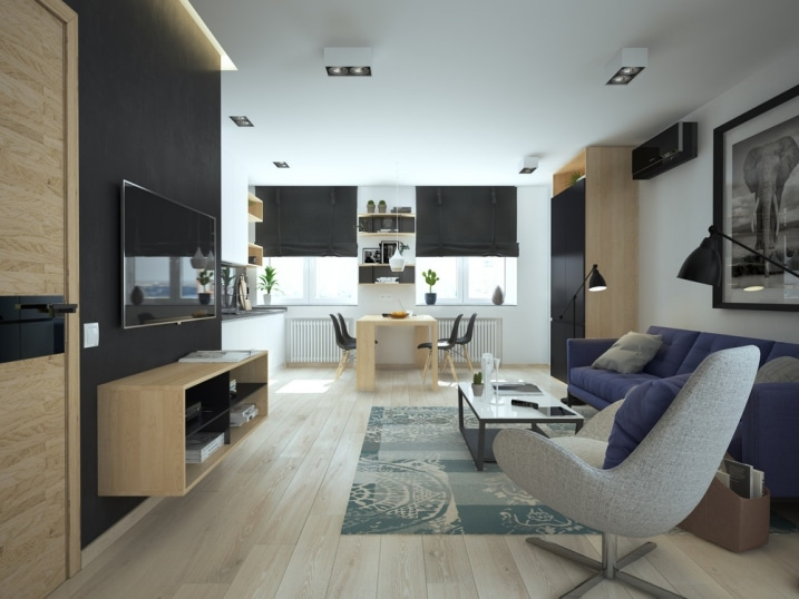 am nager et d corer un appartement de moins de 50m2. Black Bedroom Furniture Sets. Home Design Ideas