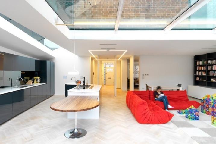 Extension avec toit en verre