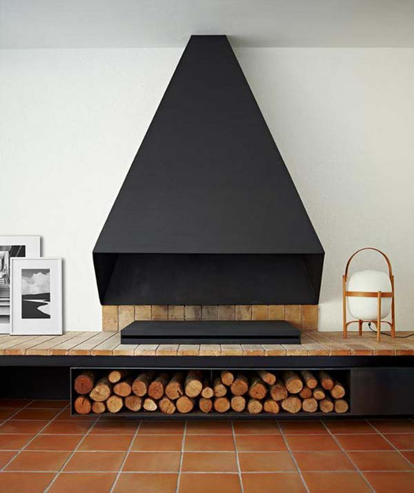 Id es rangement rondins bois for Rangement minimaliste