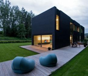 Maison contemporaine noire