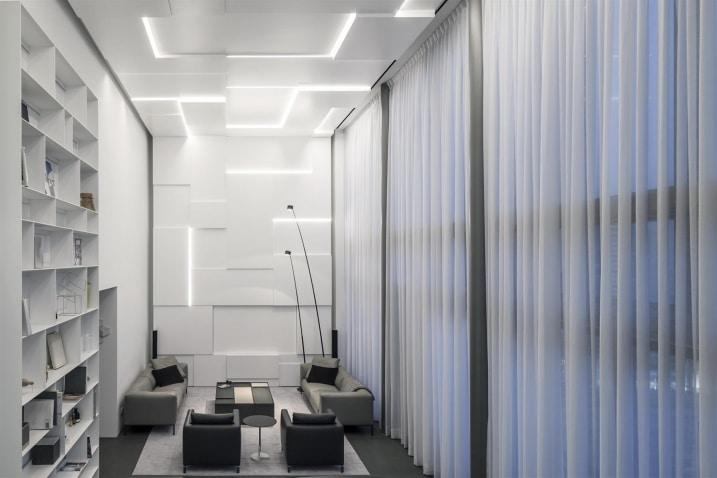 Salon minimaliste blanc