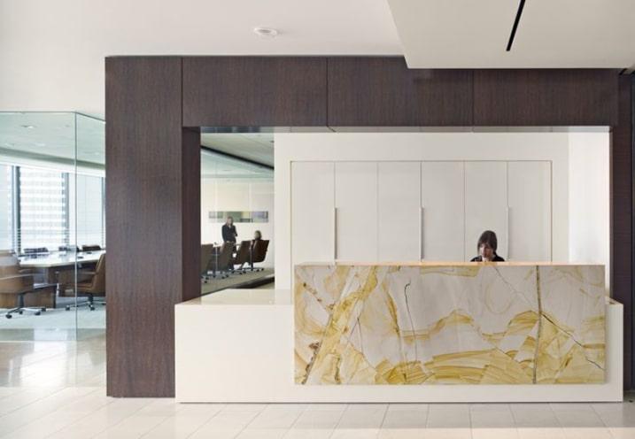 Les plus belles banques d accueil design bureaux reception
