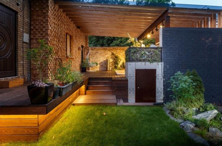Eclairage indirect jardin