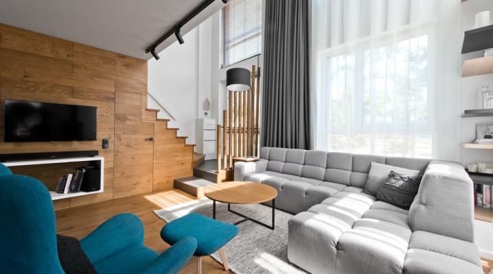 Canapé angle gris