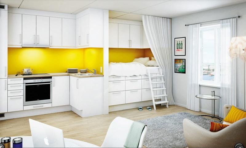 25 cuisines modernes jaunes id es exemples inspirations. Black Bedroom Furniture Sets. Home Design Ideas