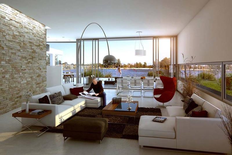 maison design avec piscine fontaine. Black Bedroom Furniture Sets. Home Design Ideas