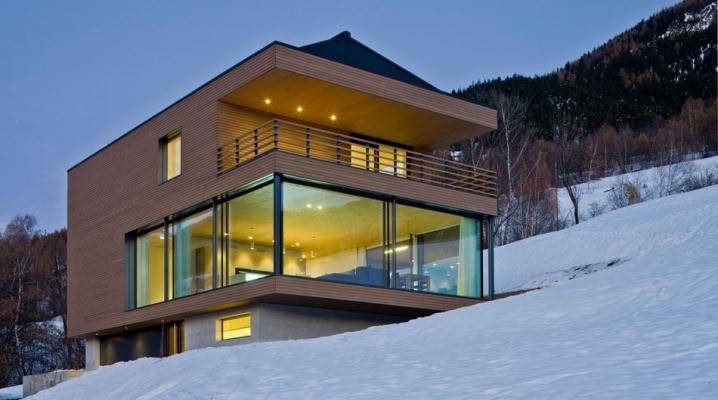 maison bois verre