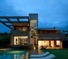 Maison architecte briques rouges