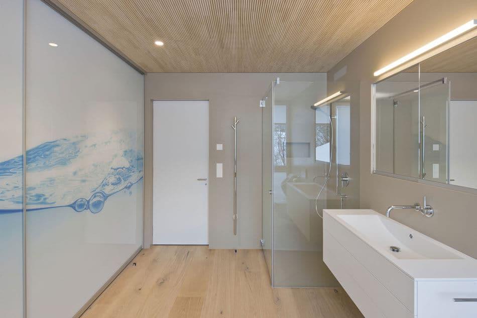 salle de bain bois et verre. Black Bedroom Furniture Sets. Home Design Ideas