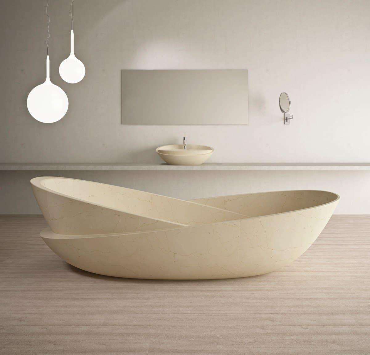 Baignoire en marbre