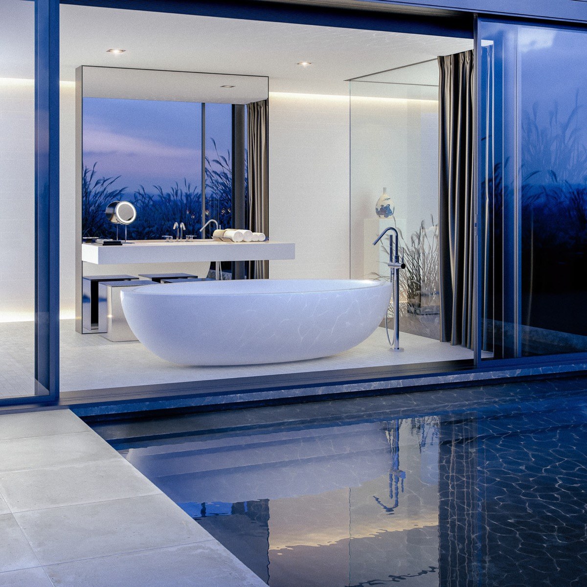 Baignoire piscine intérieure