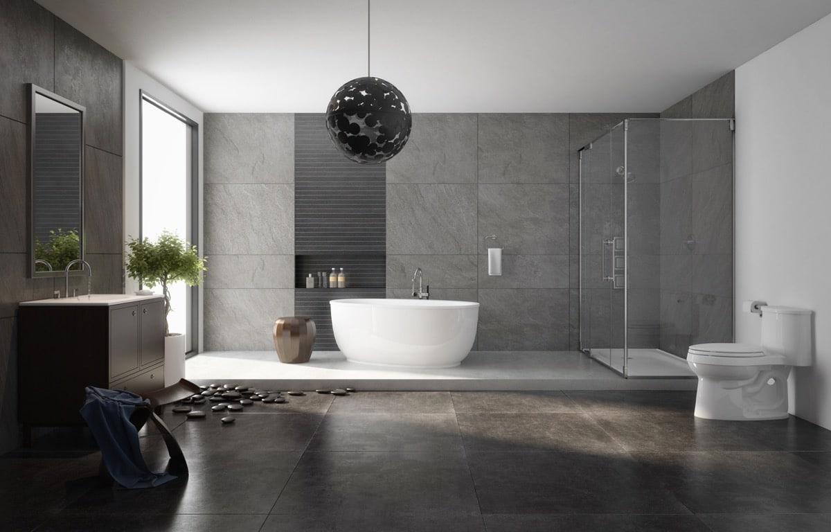 36 id es salles de bains avec baignoire de luxe - Baignoire contemporaine ...
