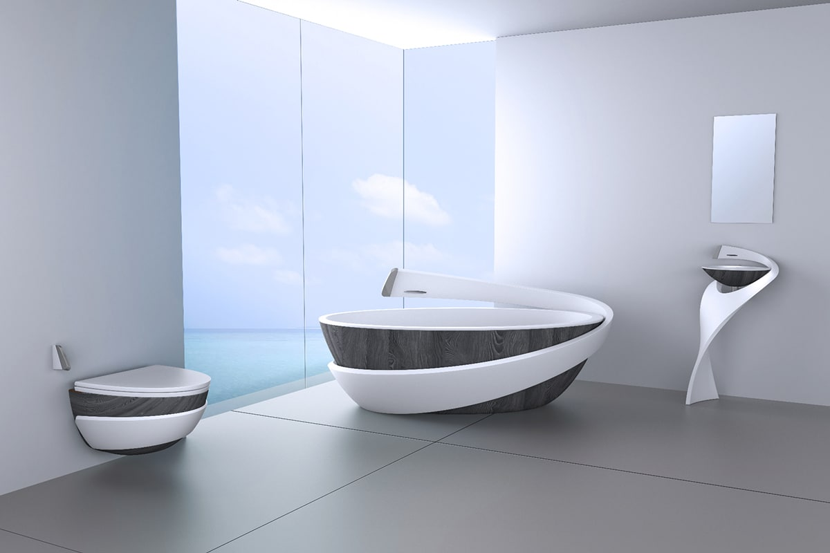 baignoire salle de bain moderne. Black Bedroom Furniture Sets. Home Design Ideas