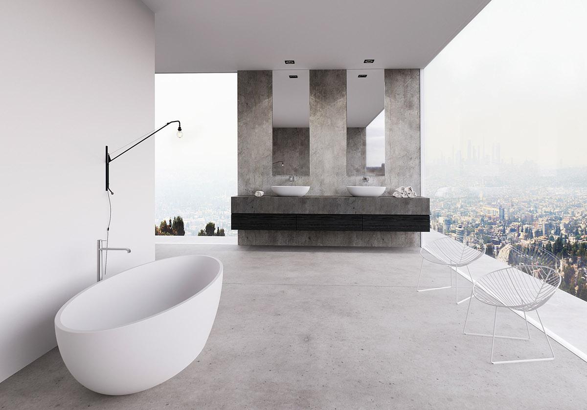 Baignoire sur terrasse