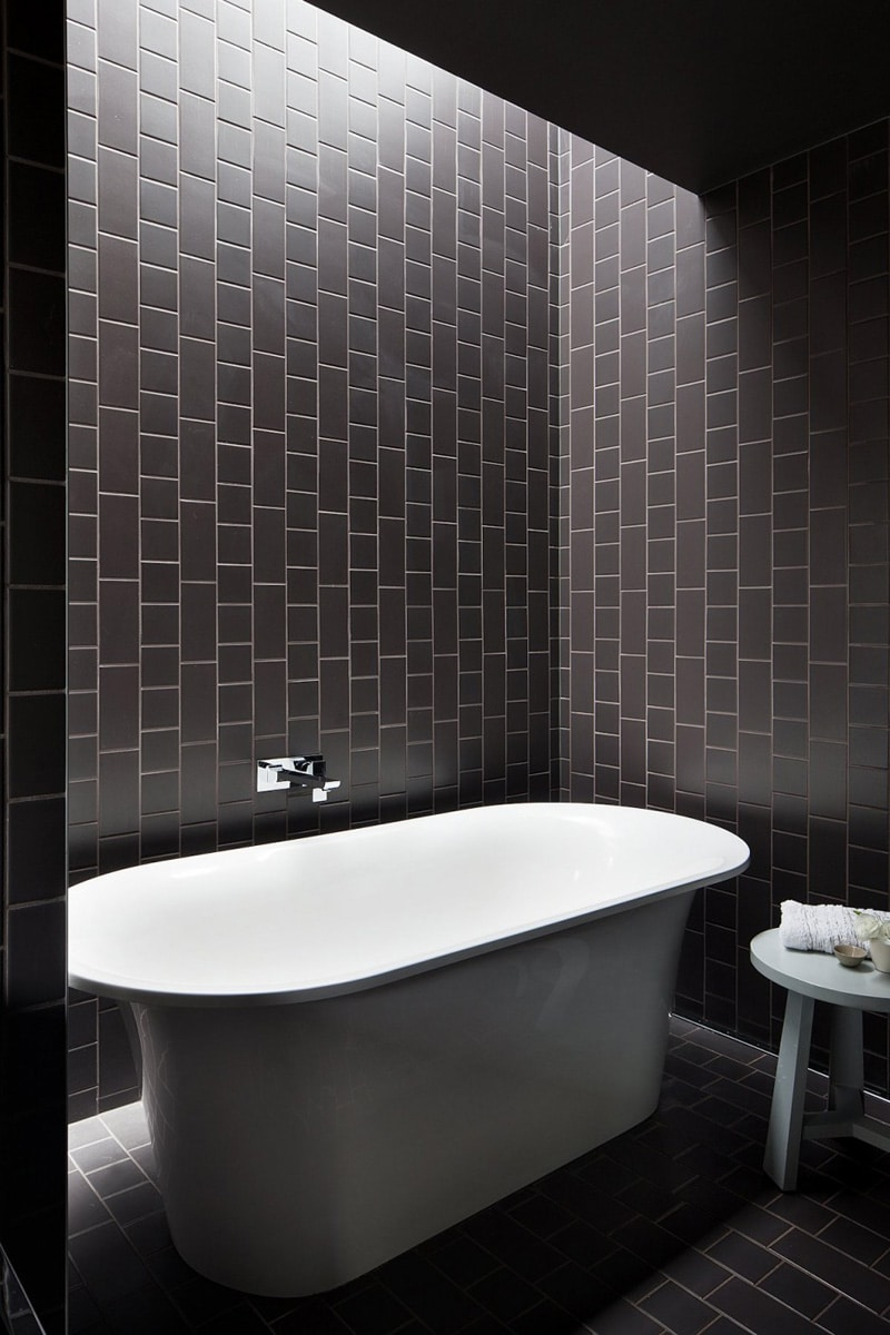 carrelage mural anthracite salle de bain. Black Bedroom Furniture Sets. Home Design Ideas