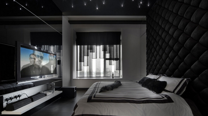 Idées pour décorer une chambre à coucher masculine chambre murs noirs capitonnés