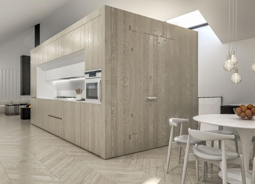 cuisine facade bois. Black Bedroom Furniture Sets. Home Design Ideas