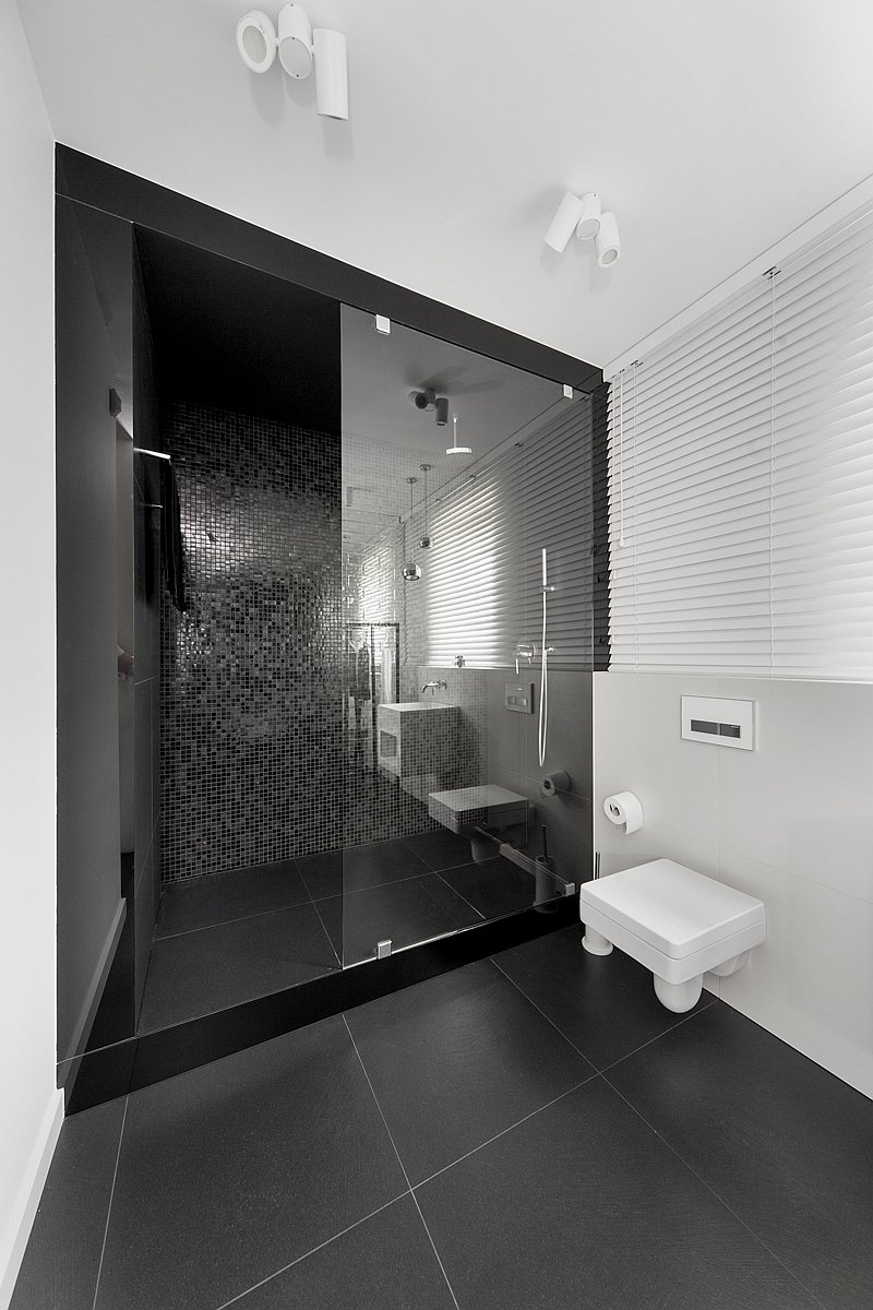 Douche italienne contemporaine - Salle de douche contemporaine ...