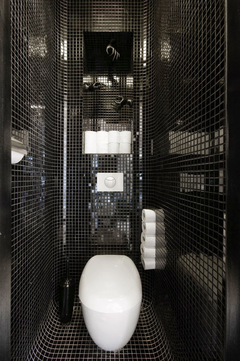 10 id es d co salles de bain noir et blanc contemporaines. Black Bedroom Furniture Sets. Home Design Ideas