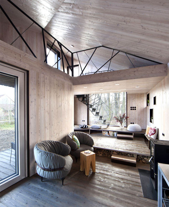 Id e d co int rieur chalet bois for Idee interieur de maison