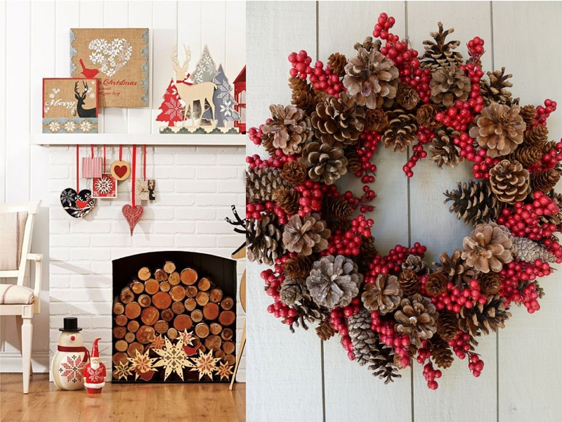 50 id es d corations de no l style scandinave - Decoration couronne de noel ...
