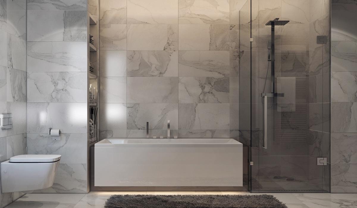 36 id es salles de bains avec baignoire de luxe for Salle de bain de 4m2 avec baignoire
