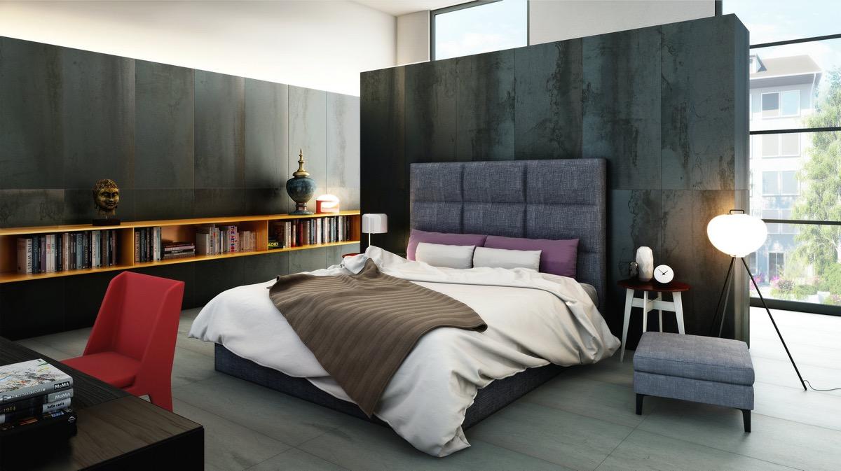Mur noir dans chambre